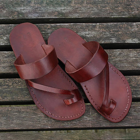 Deep Brown Flat Heel Summer Daily Sandals