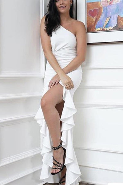 Sexy Elegant One Shoulder Maxi Dress