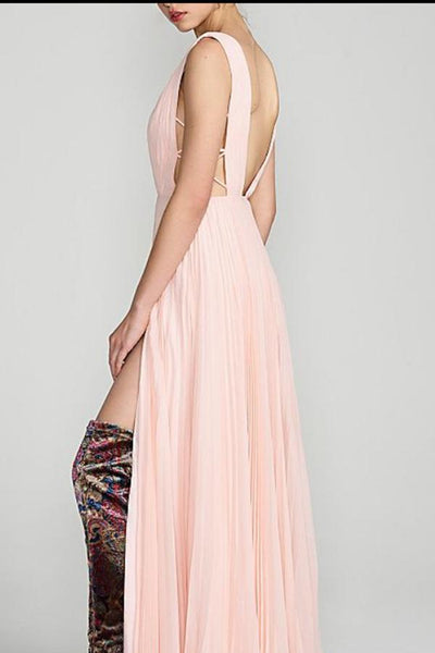 Pink Sexy Fashion Sleeveless Maxi Dress