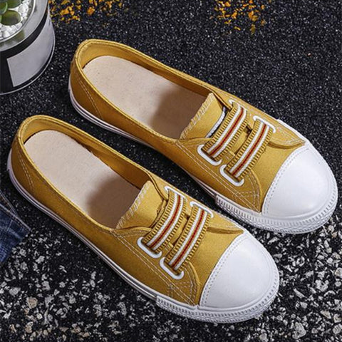 Color Block Flat Round Toe Casual Sport Sneakers