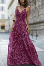 Load image into Gallery viewer, Sexy Leopard Print Sleeveless Maxi Dresses