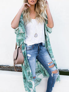 Chiffon Printed Sun Protection Cardigan