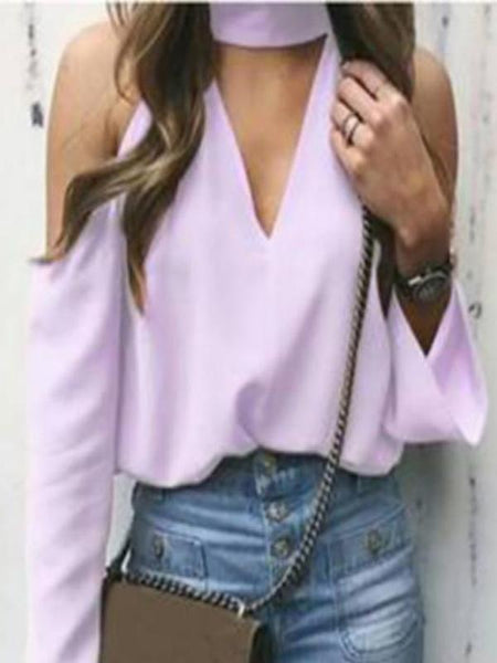 Sexy Deep V Strapless Blouse Top