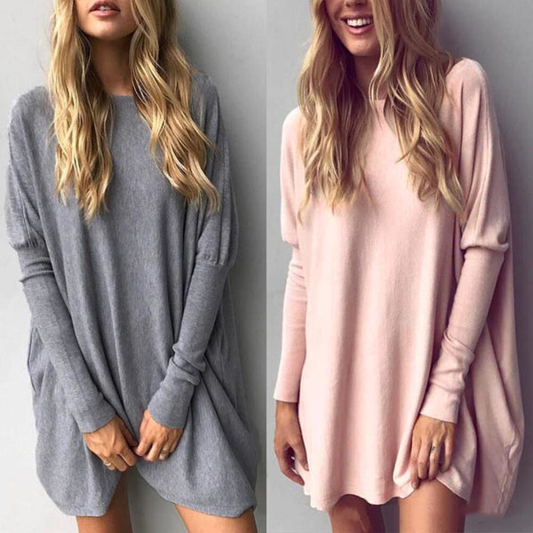 Loose Casual Pure Color Top