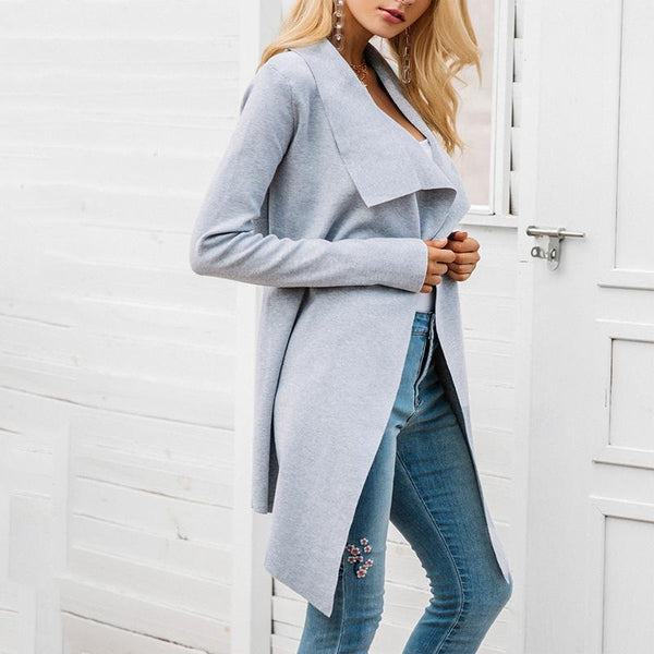 Slim-Fit Versatile Knit Cardigan