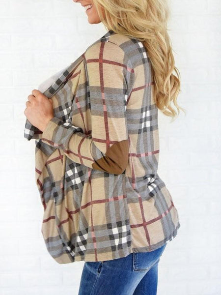 Checked Blanket Cropped Cardigan