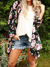 Load image into Gallery viewer, Floral Asymmetric Cardigan Without Necklace
