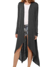 Load image into Gallery viewer, Silken Cropped Longline Cardigan