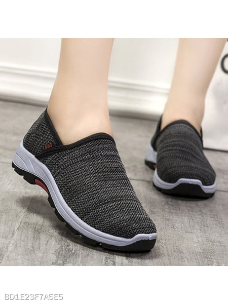 Flat Peep Toe Casual Sneakers
