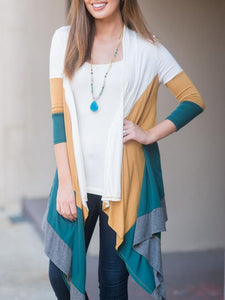 Soft Touch Color Block Cardigan