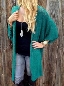 Cropped Cardigan With Trumpet Sleeve