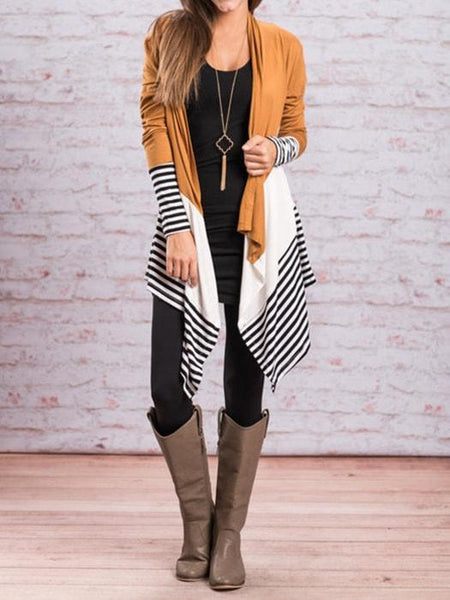 Striped Color Block Cardigan