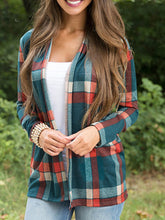 Load image into Gallery viewer, Plaid Long Sleeve Cardigans