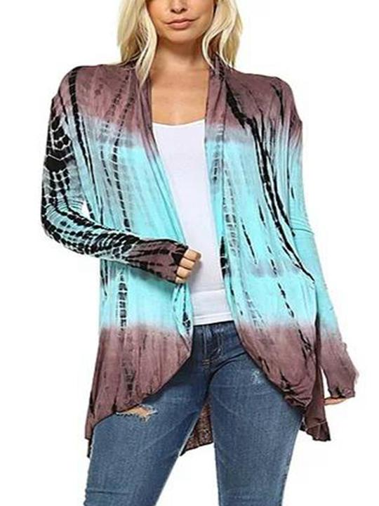 Gradient Long Sleeve Cardigans