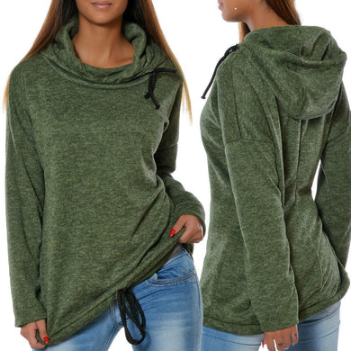 Pure Color Long Sleeve Hoody
