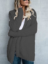 Load image into Gallery viewer, Hooded Long Sleeve Plain Cardigans