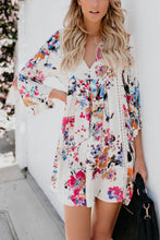 Load image into Gallery viewer, V Neck  Floral Printed  Bell Sleeve  Long Sleeve Casual Dresses
