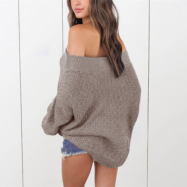 Casual Loose Off Shoulder Sweater