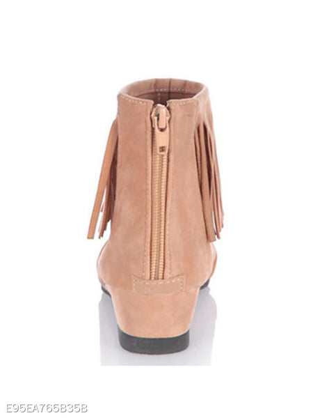 Hollow Out Invisible High Heeled Velvet Peep Toe Date Outdoor Boots
