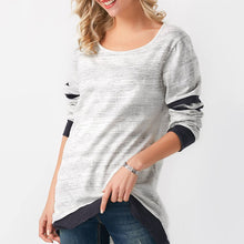 Load image into Gallery viewer, Solid Solid Color Stitching Long Sleeve TopColor Stitching Long Sleeve Top