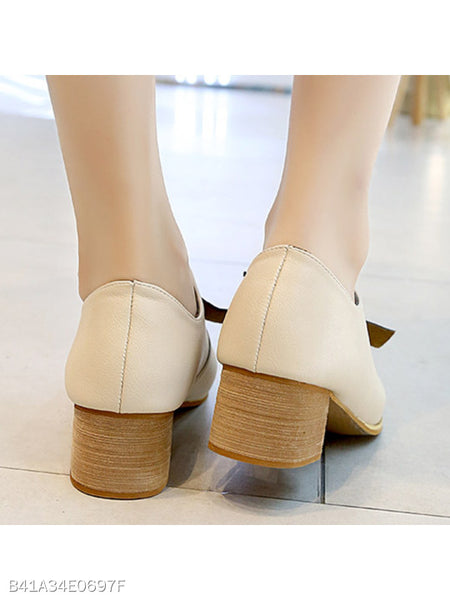 Plain Chunky Mid Heeled Round Toe Date Outdoor Ankle Boots