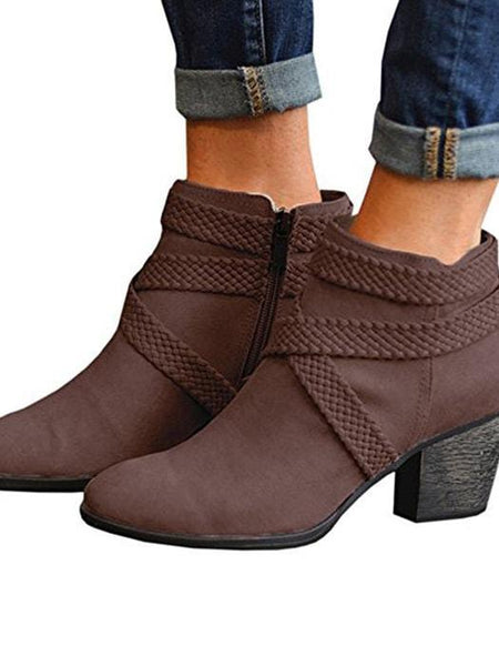 Point Toe Heeled Ankle Boots