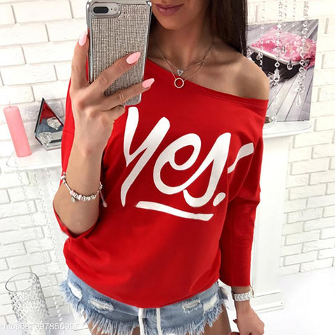 Yes Printed Cropped Sleeves Women's Hoodie