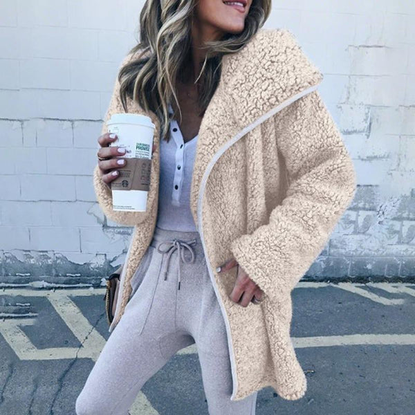 Hooded Long Sleeve Fur Cardigans