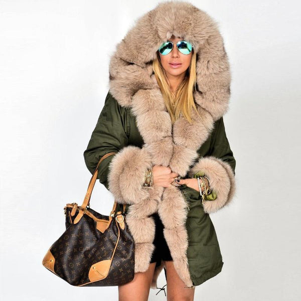 Long Hooded Fur Coats