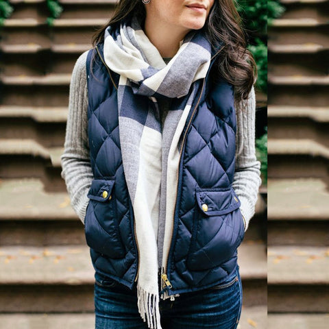 Fasion Casual Solid Color Waistcoat Outerwear
