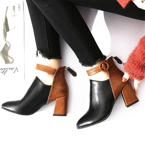 Fashion Daily Life High Heels Short Boots