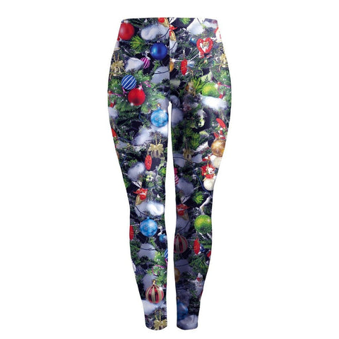 Christmas Decoration Print Women Skinny Party Legging