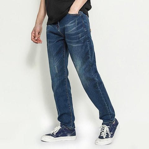 Retro Jeans Simple Slim Trousers Loose Casual Pants