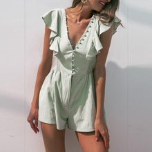 Load image into Gallery viewer, Fashion Sexy Ruffled Short   Jumpsuit