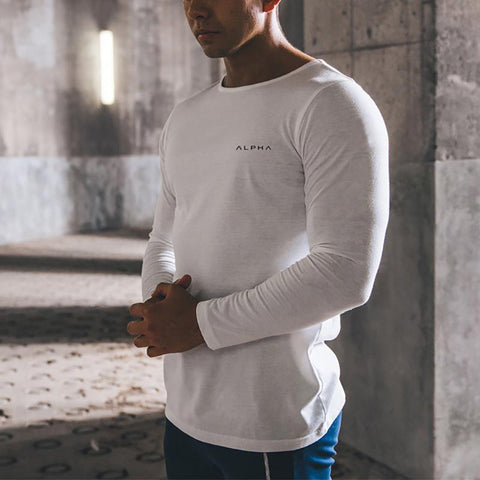 Casual Pure Colour Long Sleeve T-Shirt