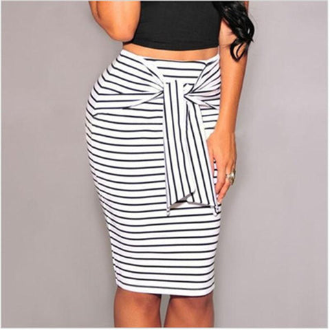 New Style Bodycon Striped Sexy Women Skirt