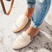 Load image into Gallery viewer, Fashion Simple Woven Pointed Flat Shoes