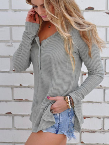 Loose Knitted Long Sleeve Jumper T-Shirts