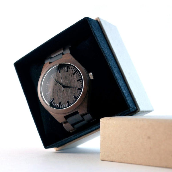 wooden watch - to my son love mom