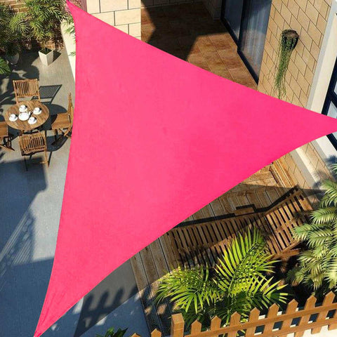 3x3m 4x4m 6x6m Sun Outdoor Sun Shelter Shade Sail Waterproof Triangle Awning Shade Sail Garden Patio Pool Camping Picnic Tent