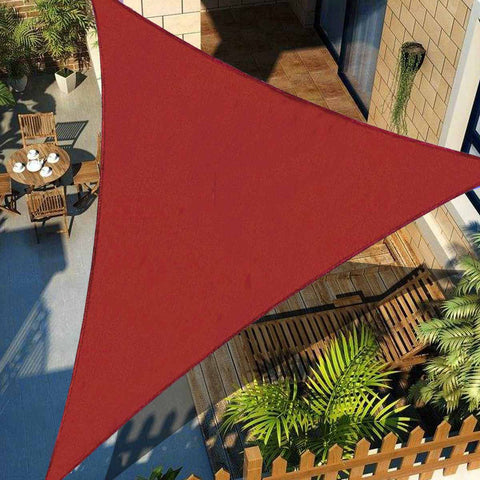 3x3x3  HDPE Right Triangle Awning Shade Sail Sun Outdoor Waterproof Sun Shade Sail Garden Patio Pool Camping Picnic Tent