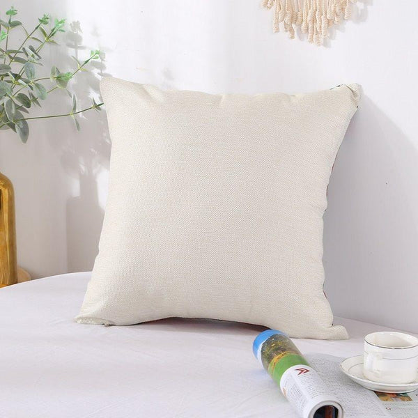 Cotton and Linen Plant Reactive Printing Pillowcase Dry Cleaning