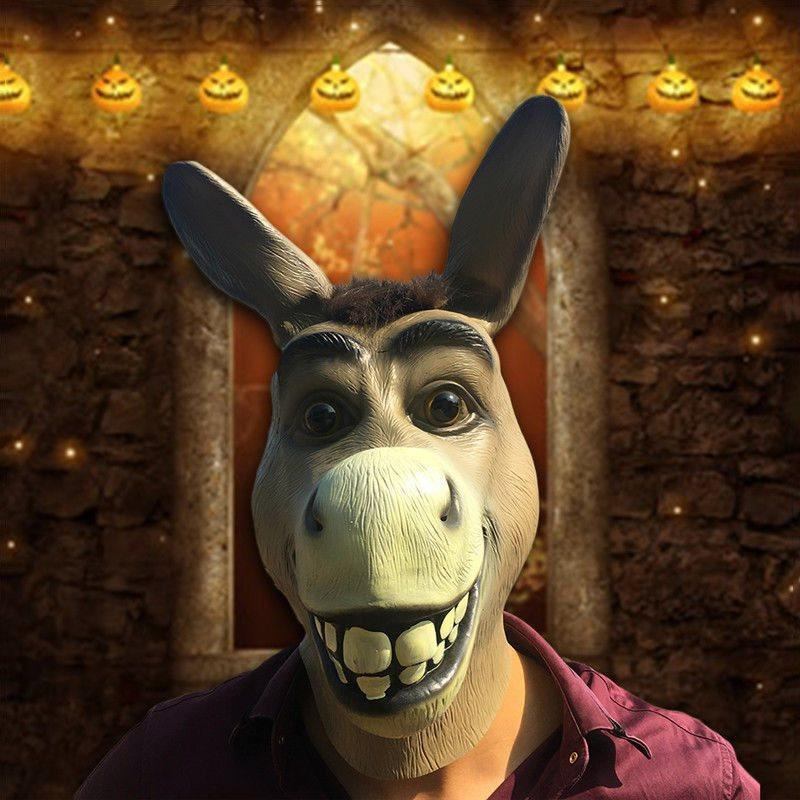 Halloween Masquerade Party Donkey Mask