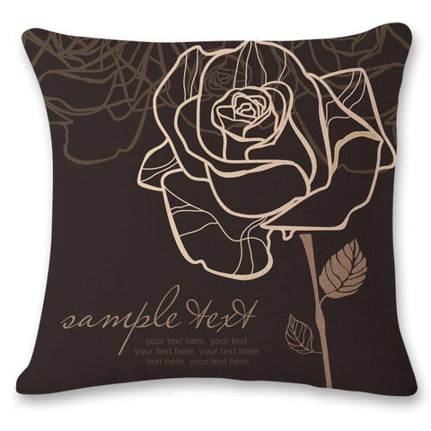 Linen Floral Reactive Printing Pillowcase