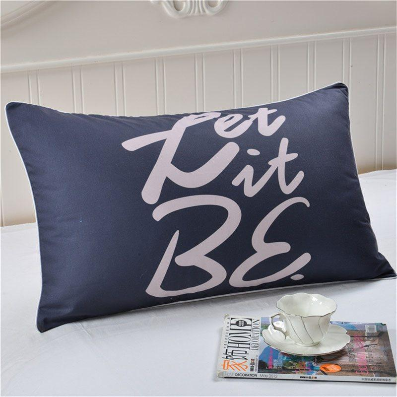 Polyester Pillowcase Tabby Letter