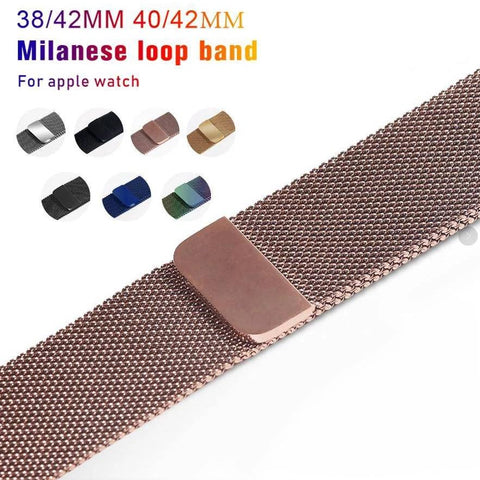 Apple Watch Magnetic Milanese Loop Watchband Strap