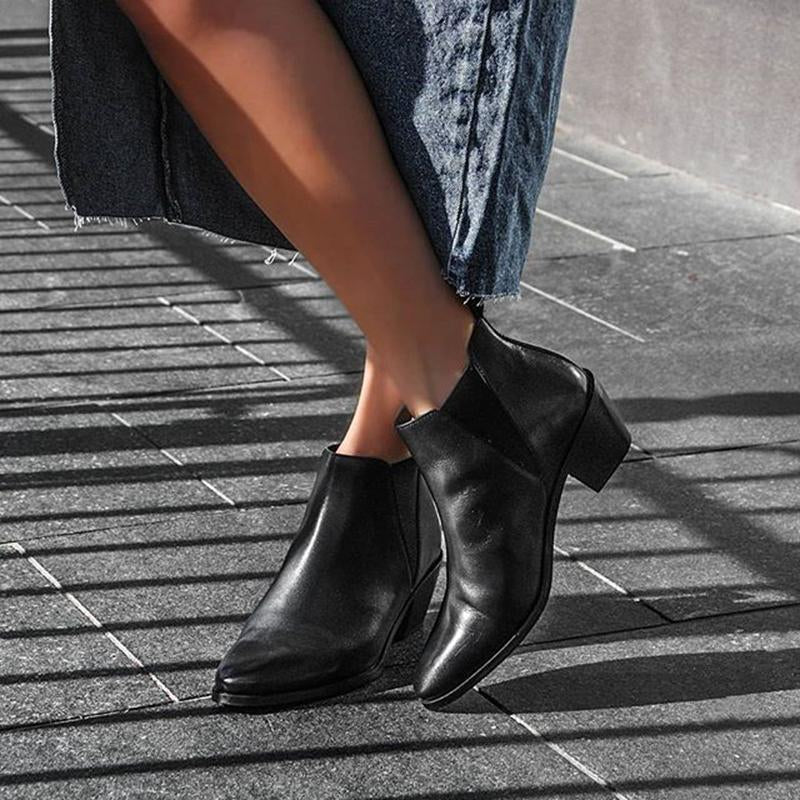 Women's Casual Solid Color Ankle Boots