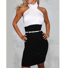 Load image into Gallery viewer, Halter Plain Bodycon Dress