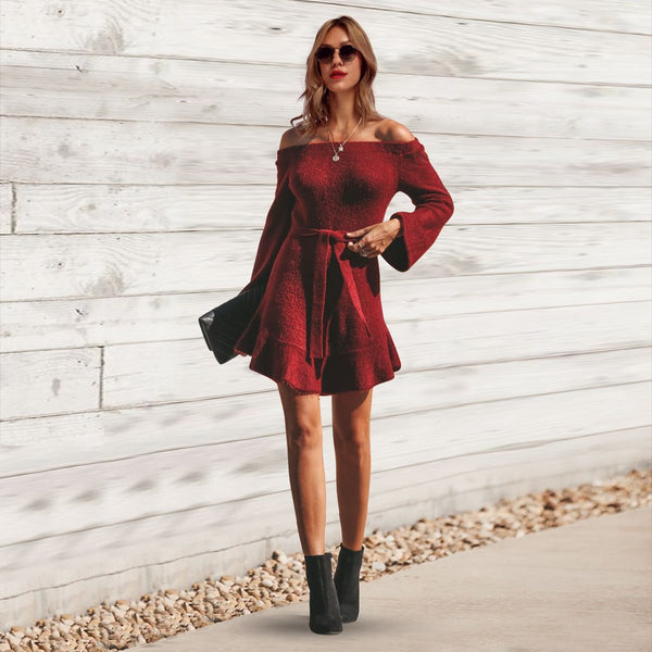 Fashion Casual Lace-Up Bodycon Dress