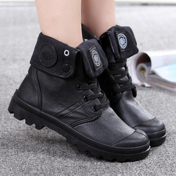 Plus Size Unisex Waterproof High Top Martin Ankle Boots